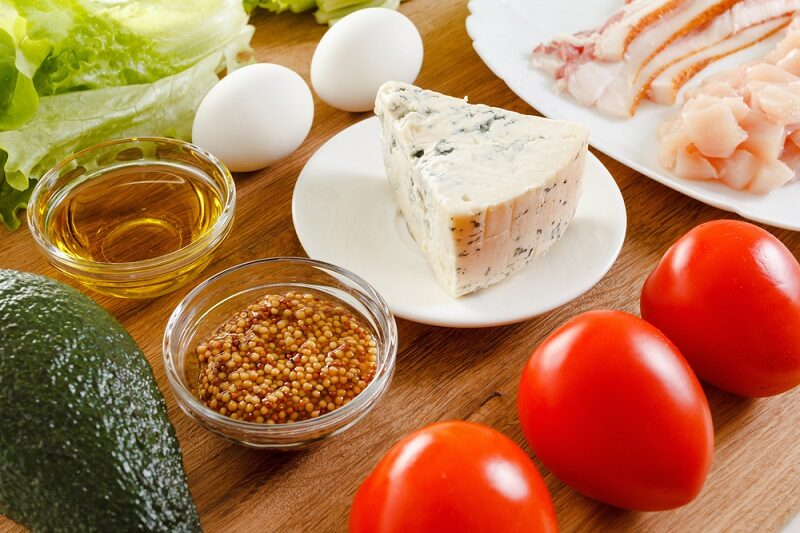 ingredients-for-cooking-traditional-american-cobb-salad